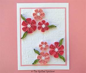 Quilled Flowers Card, Paper Quilling Handmade Greeting