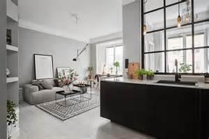 studio apartment kitchen ideas piso pequeño con paredes grises tienda decoración estilo nórdico delikatissen