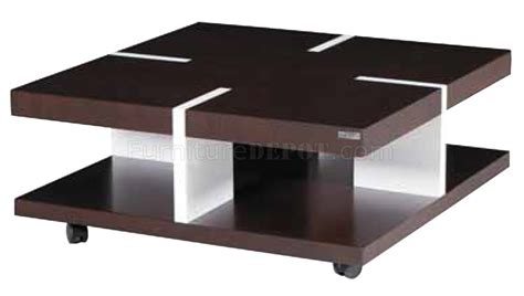 white and brown coffee table brown white solid wood modern coffee table w casters