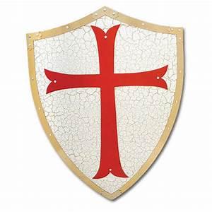 Knights Templar Shield W/ Cross True Swords