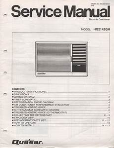 Quasar Hq2142gh Air Conditioner Service Manual