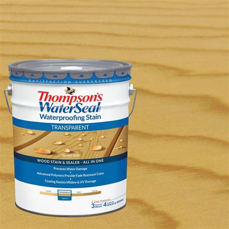 thompsons waterseal  gal transparent harvest gold