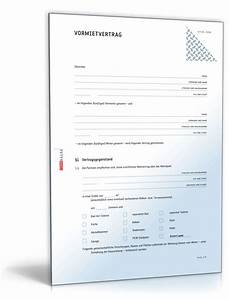 Mietvertrag Kostenlos Pdf : vormietvertrag muster zum download formblitz ~ Frokenaadalensverden.com Haus und Dekorationen
