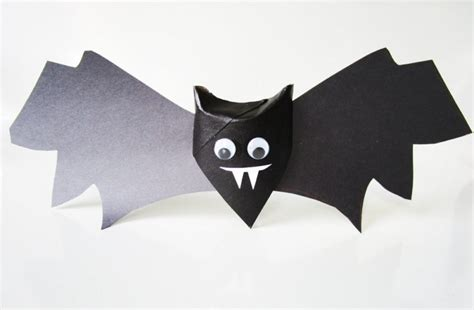 Toilet Paper Roll Bat Wing Template by Cute And Creepy Bats Craft Kinderart