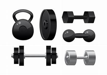 Vector Equipment Weight Lift Gym Silhouette Cheerleader