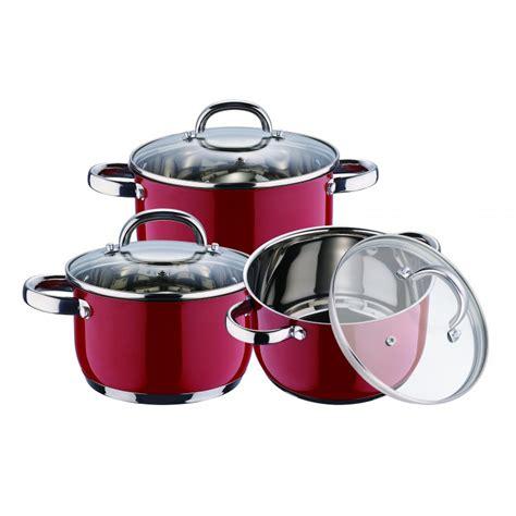 batterie de cuisine en batterie de cuisine en inox 6 pieces kaiserhoff kh 6522