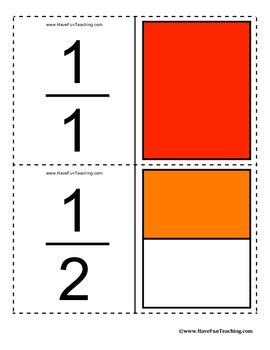 fraction flash cards   fun teaching teachers pay