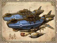Astrid Bard Age : steampunk flying pirate ships airship blimp boat equipment ~ Melissatoandfro.com Idées de Décoration