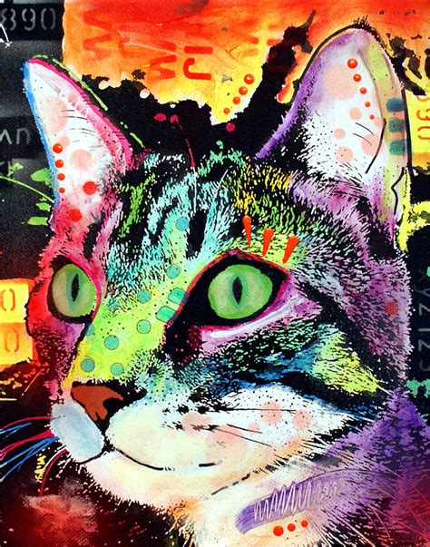 Curiosity Cat Painting By Dean Russo