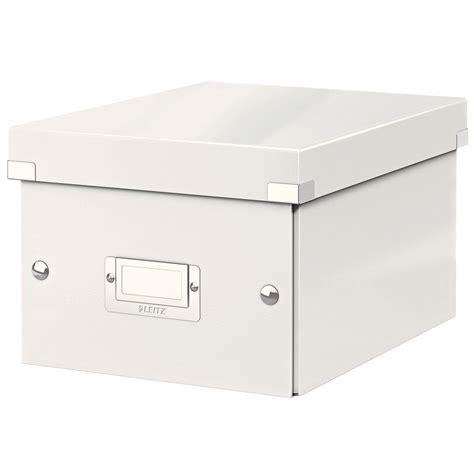 leitz click store boite de rangement petit format 7 4 litres blanc bo 238 te de rangement leitz
