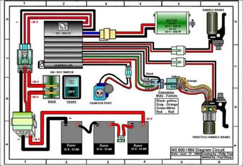 razor mx400 battery and engine upgrade v is for voltage e300 razor scooter battery wiring diagram
