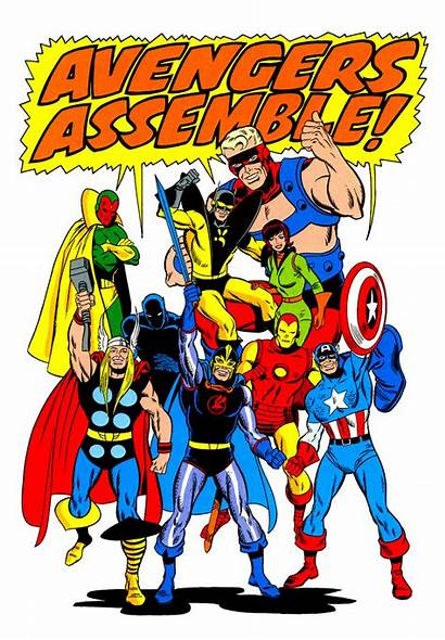 Avengers Marvel Assemble Comics Comic Buscema Team