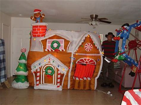 gemmy airblown inflatable animated gingerbread house