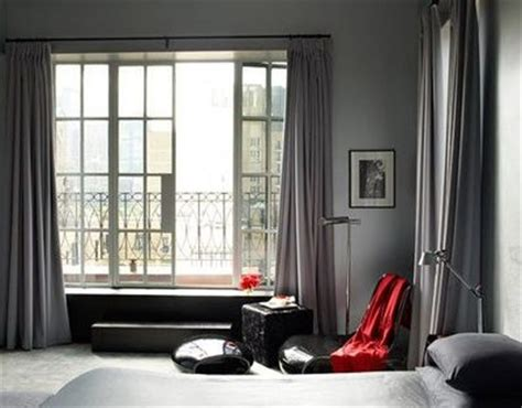 gray walls gray curtains separated by texture for the