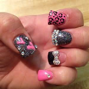 Rhinestone cheetah new nails designs are amazing wflook