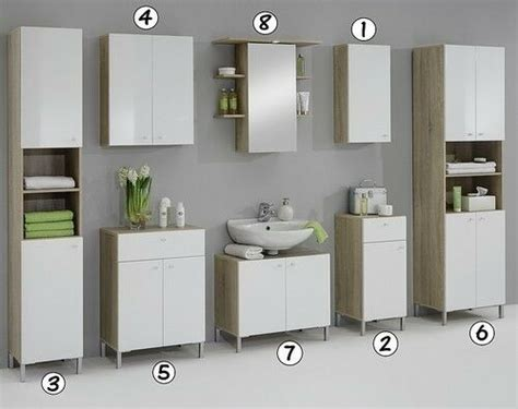 Vanity Cupboard by Luxury Bilbao Matching White Washed Oak Bathroom Vanity