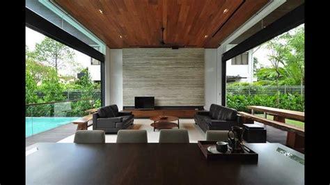stylish bungalow inspired residence  singapore sunset terrace house youtube