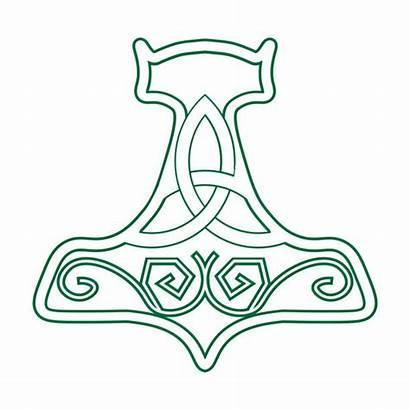 Mjolnir Hammer Thor Vector Symbol Silhouette Nordic