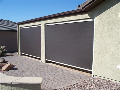 Roll Up Patio Shades by Sun Security Products By Day Screens Roll