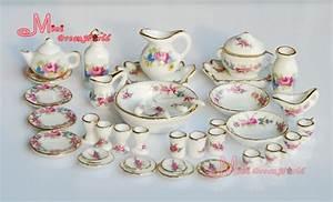 Free Shipping Porcelain Rose Tea Dinner Set Lots Of