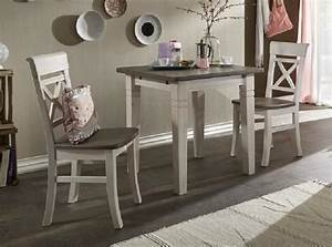 Kleiner Tisch Küche : tischgruppe tisch 2 st hle kleine k che kiefer massiv wei landhaus kaufen bei saku system ~ Orissabook.com Haus und Dekorationen