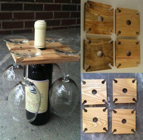 Wein Holz by Geschenkideen Hochzeit Wein Glaeser Flasche Holz Quadrat