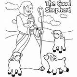 Shepherd Coloring Jesus Easter Pages Sunday Bible Sheep Craft Crafts Christ Preschool Printable Activities Children Lost Colouring Sheets Lord Lessons sketch template