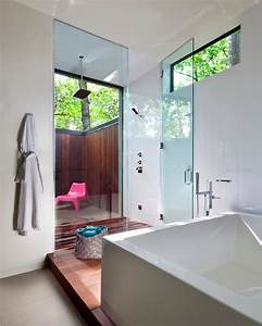 contemporary, bathroom, with, glass, enclosed, shower
