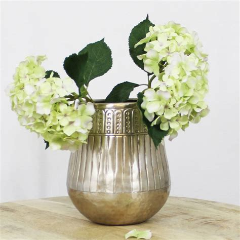 Neck Vases by Aluminium Wide Neck Vase By Lime Tree
