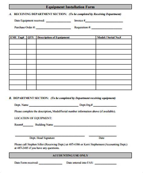 equipment order forms   premium templates
