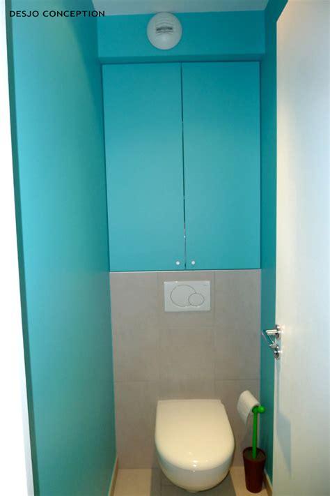 organiser sa cuisine inspiration déco wc toilettes turquoise