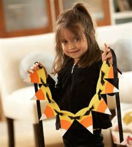 Candy Corn Garland From Paper Plates