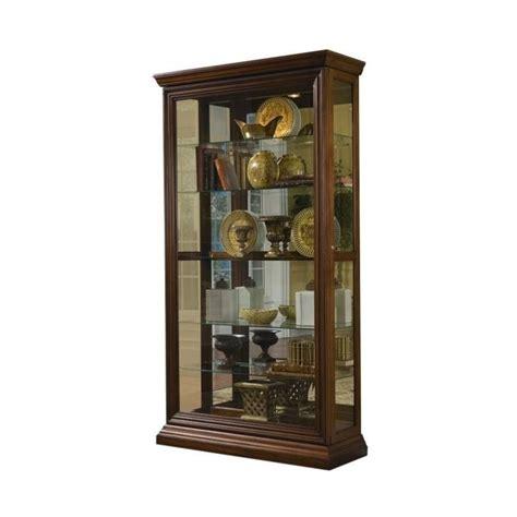 Pulaski Furniture Cherry Curio Cabinet by Pulaski Edwardian Curio In Cherry Finish 21015