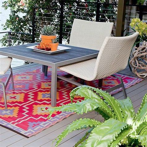 outdoor plastic rugs patio chicago by home infatuation