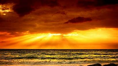 Heavenly Golden Background Rays Amanecer Wallpapers Sky