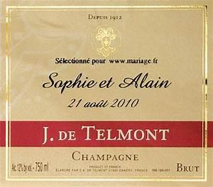 Etiquette Champagne Mariage : nos champagnes etiquettes personnalis es dragees communion ~ Teatrodelosmanantiales.com Idées de Décoration