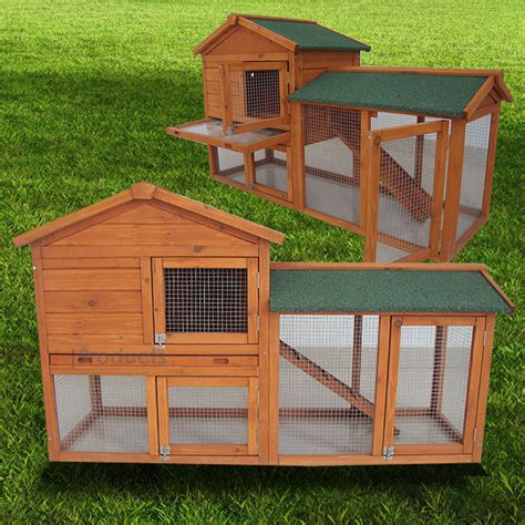large rabbit hutch guinea pig run deluxe pet hutches