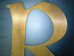 dimensional metal letters for outdoor signs logos With flat cut aluminum letters