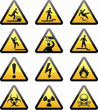 Hazard Sign Vector Warning Illustrations Clip Signs