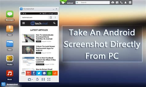 how to take screenshot in android how to take an android phone screenshot directly from pc