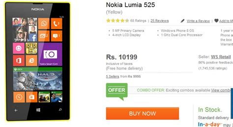 nokia lumia 525 on sale in india for just rs 10 000 160