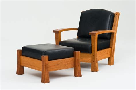 arm chair with ottoman hand crafted arm chair and ottoman by underbark furniture