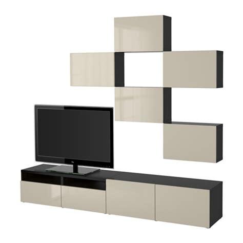 best 197 combinaison meuble tv brun noir selsviken brillant