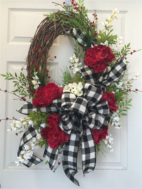 oval grapevine black  cream summer everyday wreath