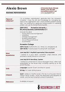 Business Administration Resume Examples 2017