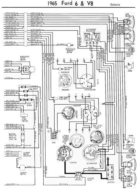 Ford Galaxie Complete Electrical Wiring Diagram Part