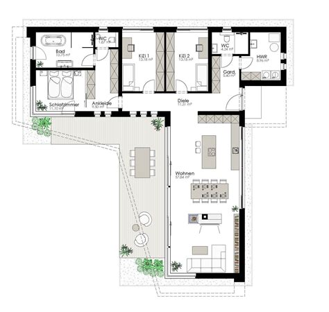 Moderne Häuser Und Grundrisse by K 246 Tz Haus Ziegelmassiv Und Schl 252 Sselfertig Room
