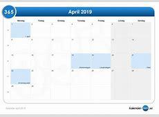 Kalender april 2019