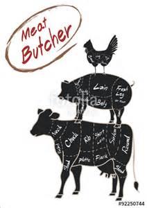 Animals Cow Chicken Pig Silhouette