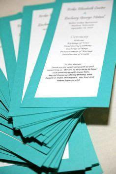 images  progrms  pinterest wedding programs